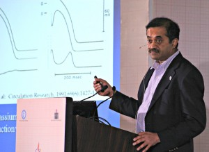 Dr. Krishnan leads an ECG training in India this past June.